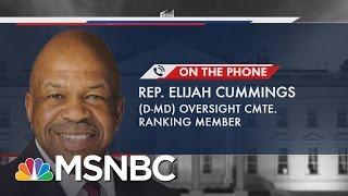 Rep. Elijah Cummings: Jeff Sessions Report Is