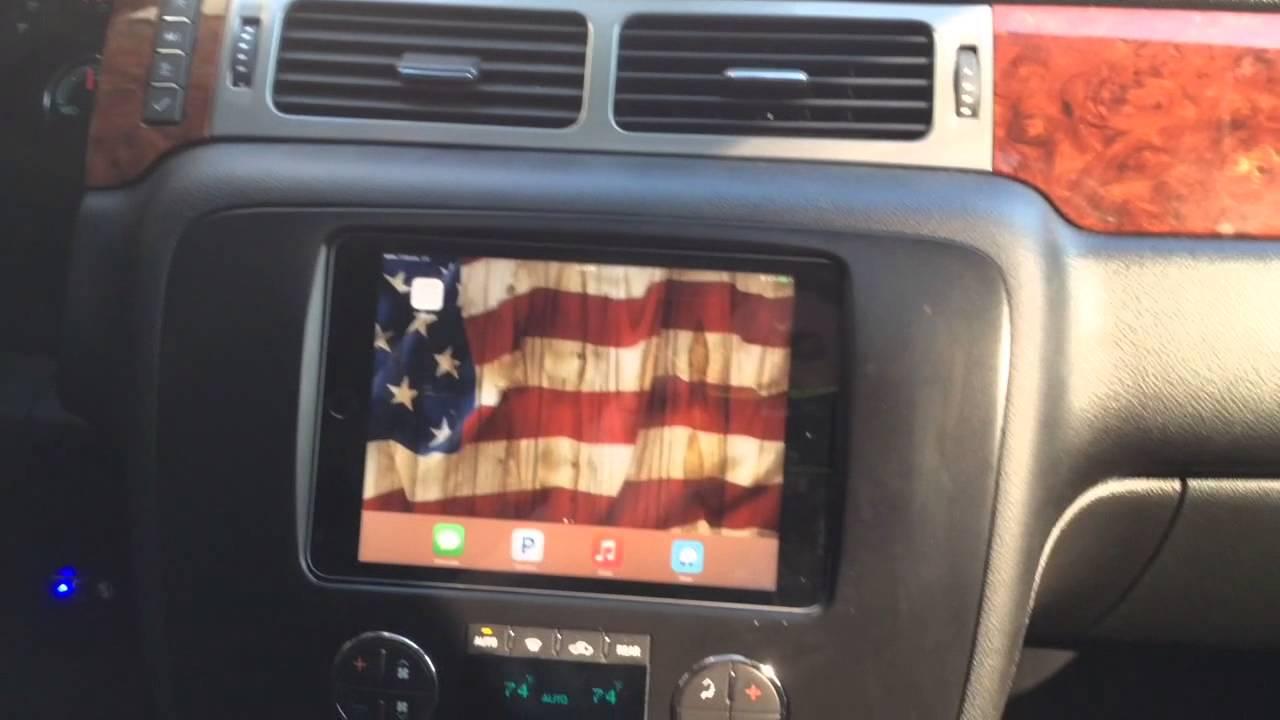 Custom Chevy Tahoe >> GMC Yukon Hybrid iPad mini indash with side rear enclosure - YouTube