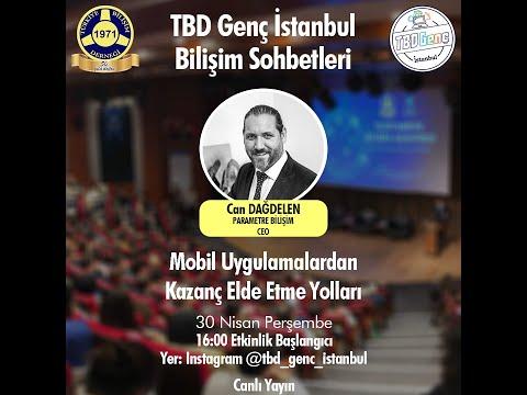TBD İstanbul Bilişim Sohbetleri Mobil Uygulamalardan Kazanç Elde Etme Yolları Can DAĞDELEN