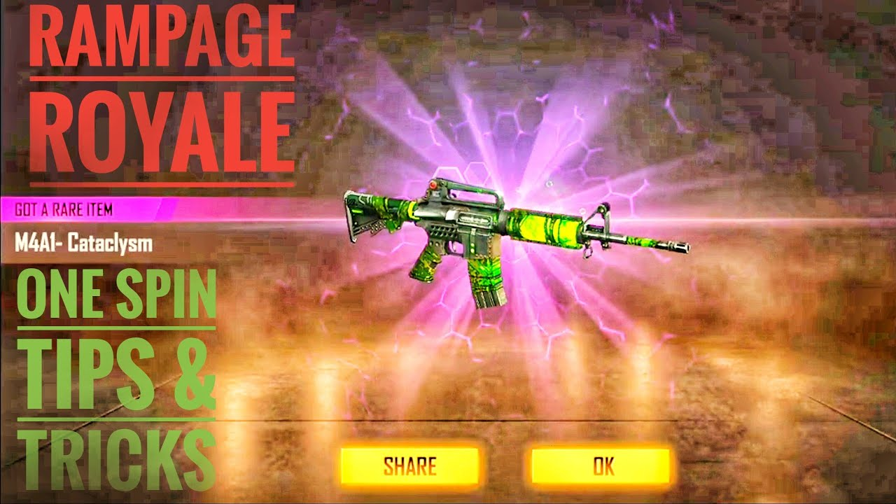 rampage royale one time spin 100% chance to get rare items in free fire by boss