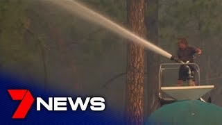 Johns River residents try to save their homes in NSW fires | 7NEWS