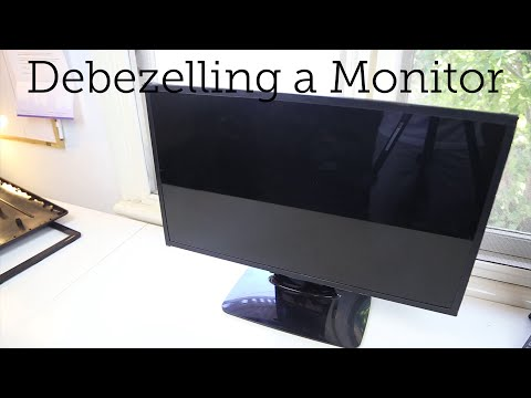 How to Remove a Monitor Bezel