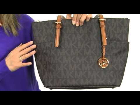 Michael Kors Jet Set Logo Item Tote Sku 8192006