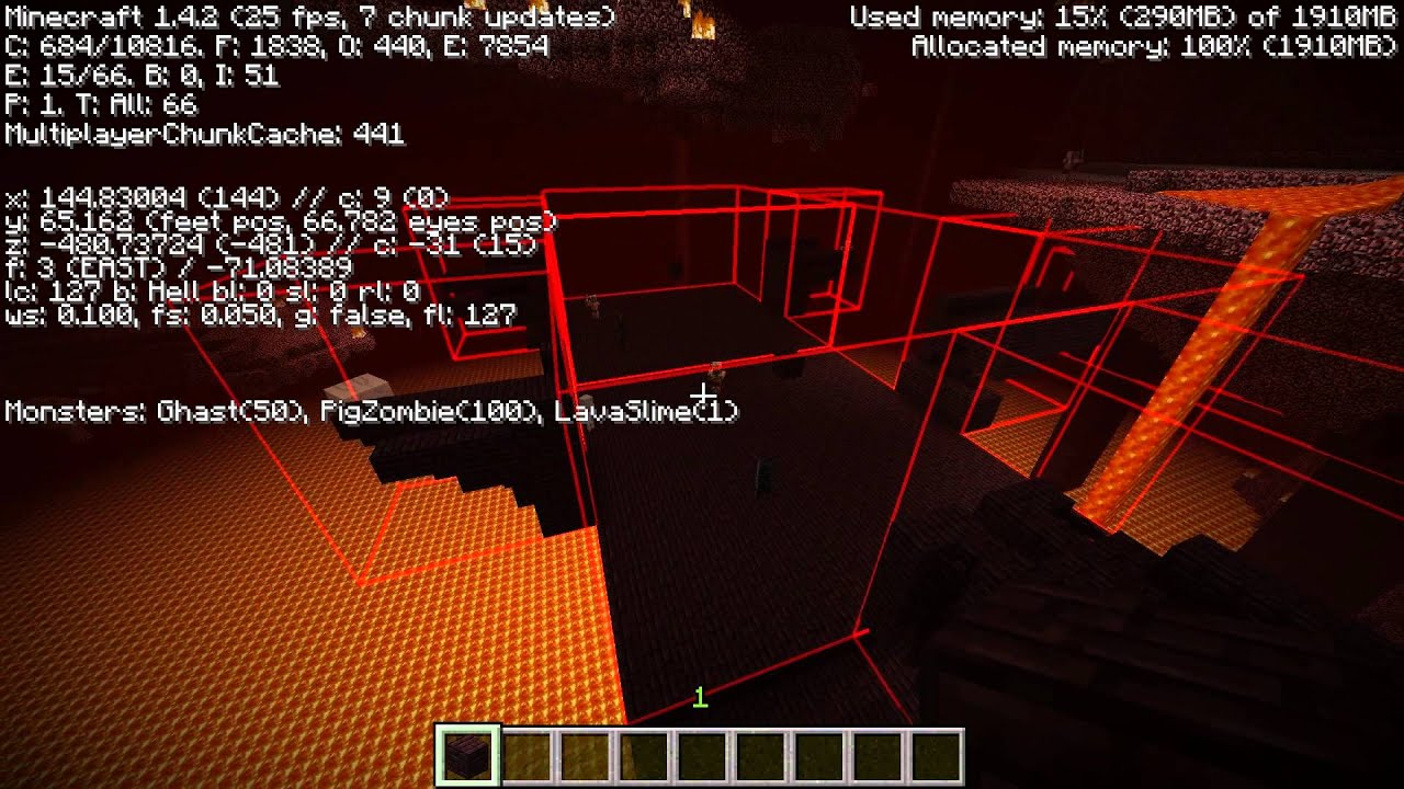 ShowMonsters + NFBBOutline Mod Minecraft 1 4 2 by KaboPC