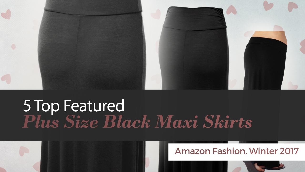 9f58ec9c26ce5 5 Top Featured Plus Size Black Maxi Skirts Amazon Fashion