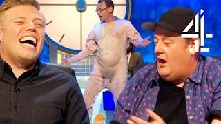 Everyone shocked by sean lock's naked suit!! | sean lock 8 out of 10 cats does countdown pt. 5