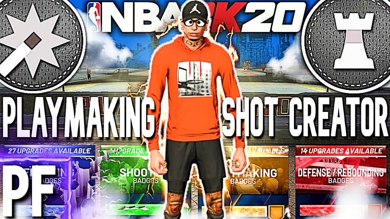 This is a PLAYMAKING SHOT CREATOR BUILD at the POWER FORWARD POSITION ON NBA 2K20