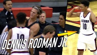 Dennis Rodman Jr. Game Gets HEATED 3 TIMES For NO REASON! Player Keeps INSTIGATING Taking The Ball!
