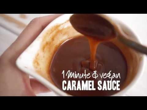 1-Minute, 3-Ingredient Vegan Caramel Sauce | Delicious on nice cream!