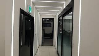복도 ㄷ 자 터널형 라인조명 1