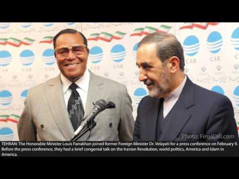 Minister Louis Farrakhan Tehran, Iran Press Conference,