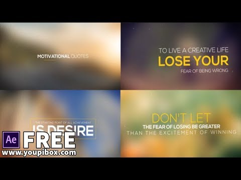Motivational Quotes Collection | Free After Effects Templates