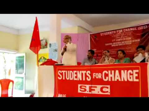 Dr. Sandeep Pandey at SFC's 1st Convention