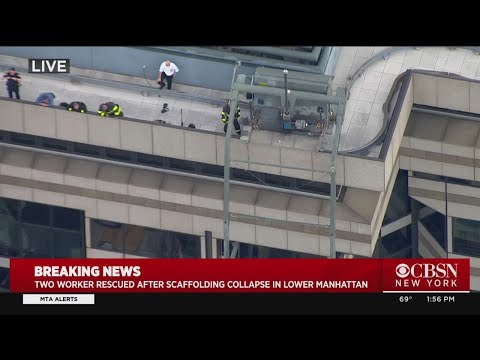 Breaking News: 2 Workers Rescued From Wall Street Scaffolding