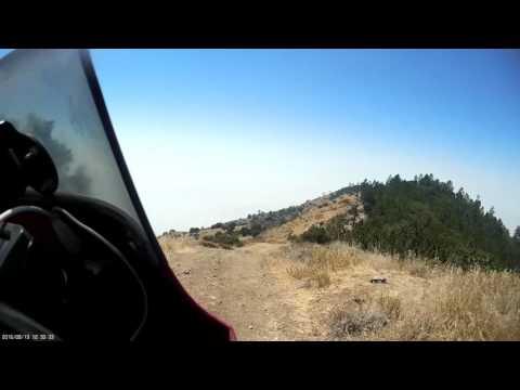 KLR650 crash in Big Sur...lands upside down!