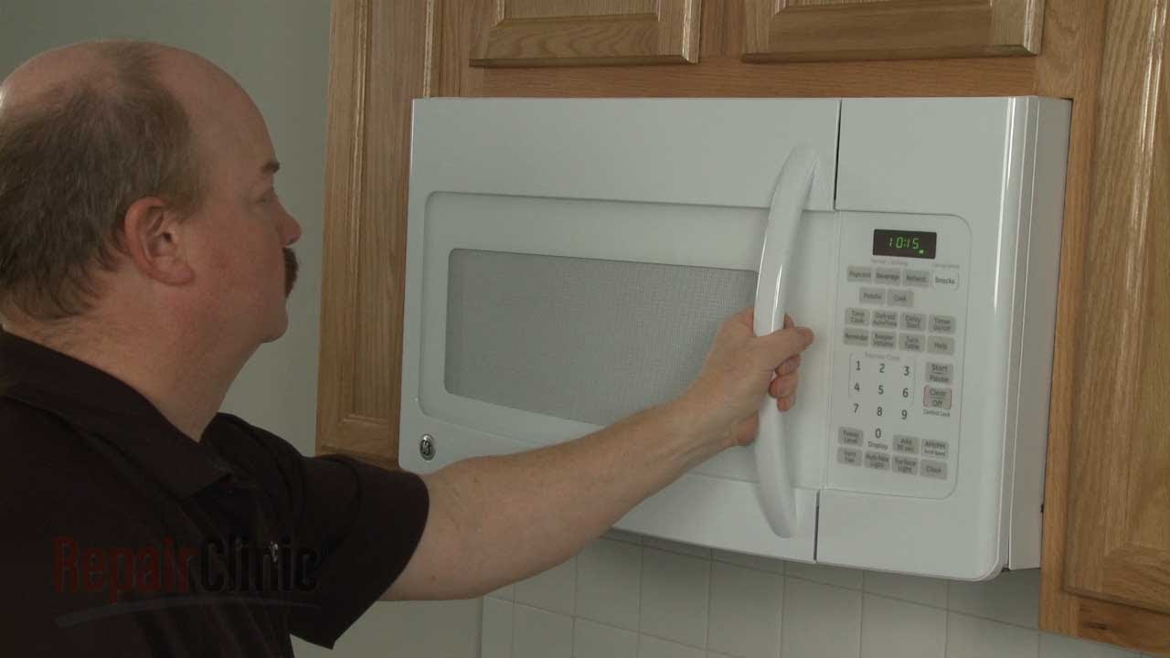 GE Microwave Door Handle Broken? Replace, Repair #WB15X10249 - YouTube