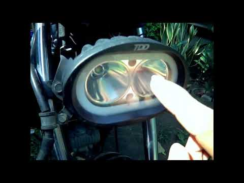 DIY Removing water moisture in motorcycle LED headlight