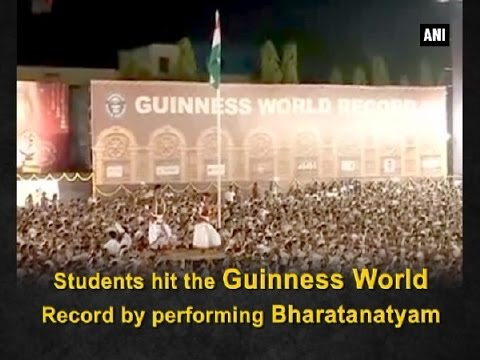 Students hit the Guinness World Record by performing Bharatanatyam - ANI #News