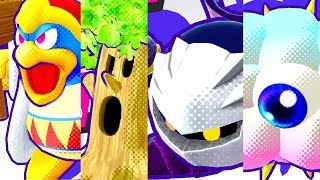 Kirby Star Allies - All Boss Intros & Knockouts