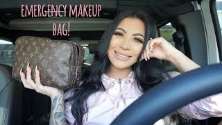 What's in my EMERGENCY MAKEUP BAG?!!