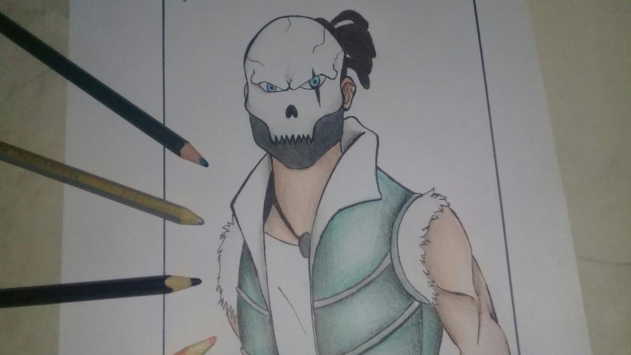 Como Desenhar A Skin Rei Caveira Do Free Fire Passo A Passo How To Draw King Skull Free Fire