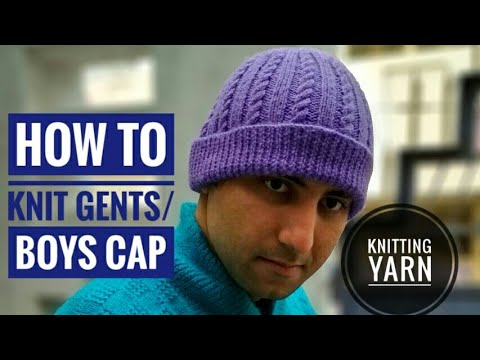 fb625423469 How to knit gents cap Gents cap kaise banaye (Hindi urdu) - YouTube