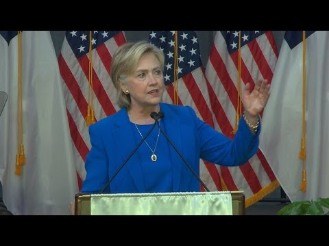 Hillary Clinton speaks at National Baptist Convention in Missouri