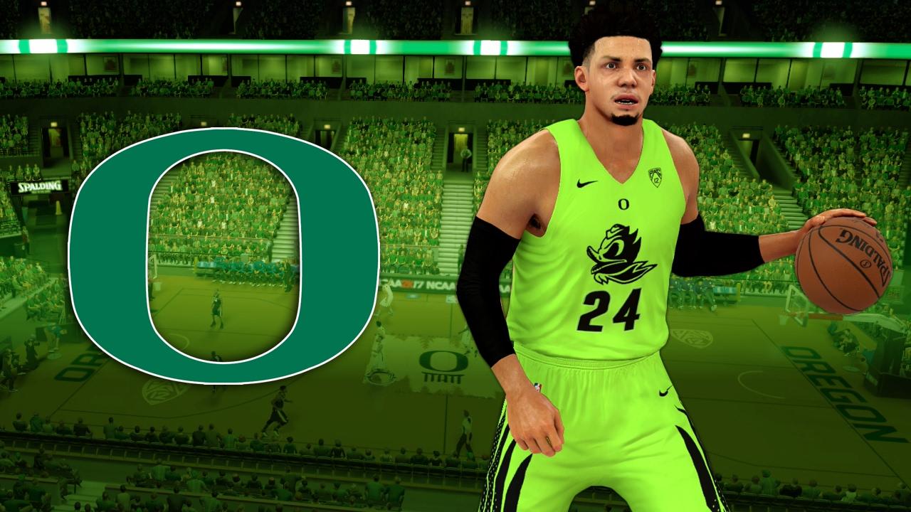 official photos 117ef 05605 NBA 2K17 2016-17 Oregon Ducks - Electric Green Glow In The Dark Jersey  Tutorial