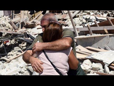 El drama humano del terremoto en Italia