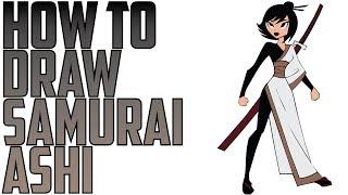 How To Draw Samurai Ashi From Samurai Jack Drawing Expert