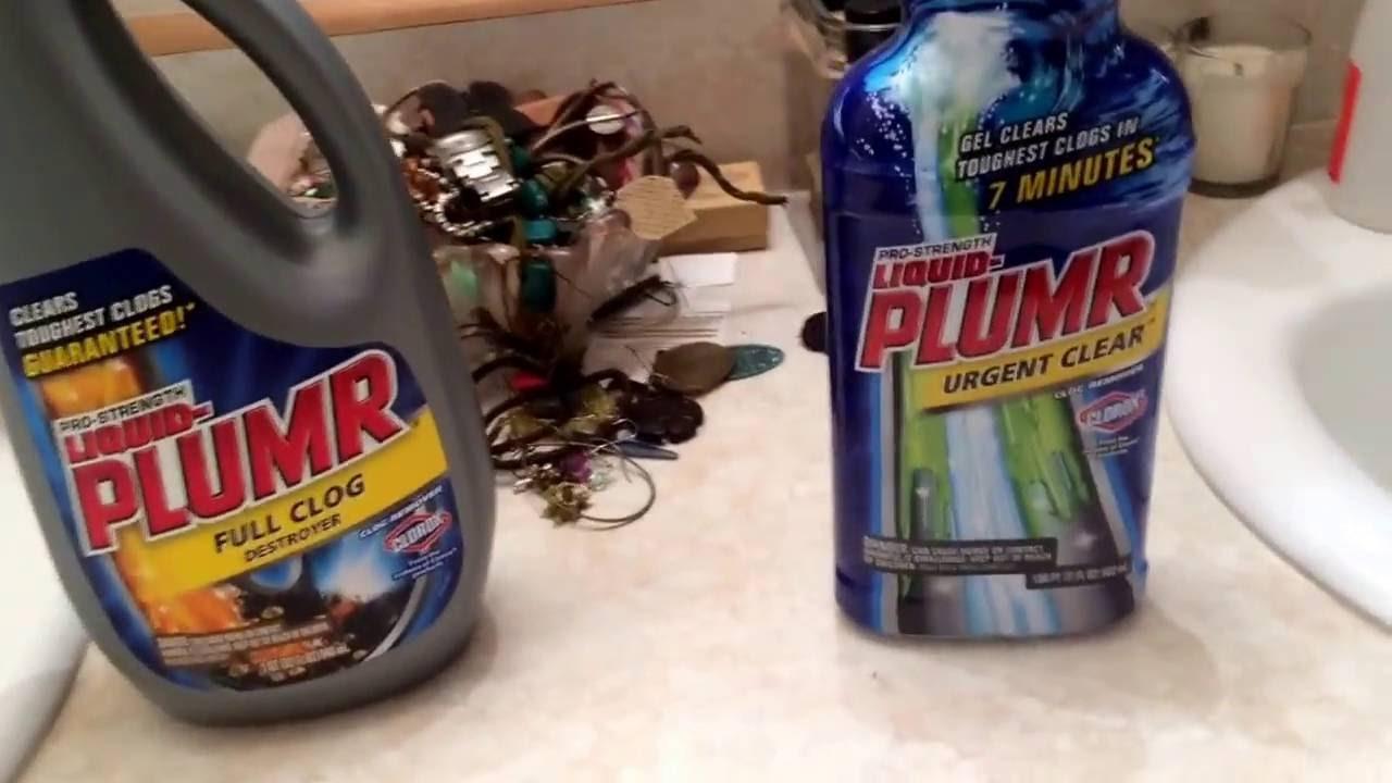 Sink Drain Clog Remover Comparison Liquid Plumr Full Clog Vs Liquid