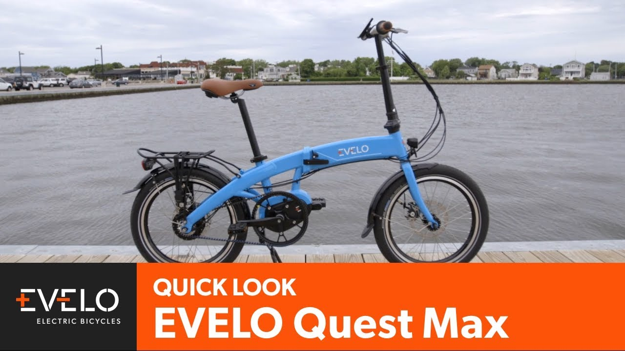 EVELO Quest Max Folding Mid-Drive Electric Bike Overview ...