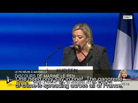 Marine Le Pen Speech (with English subtitles) - 2013 Party Summer Conference in Marseilles