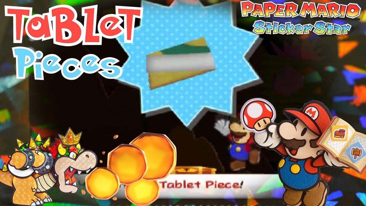 paper mario sticker star tablet pieces w2 1 w2 2 w2 4