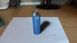 3D Bic lighter drawing