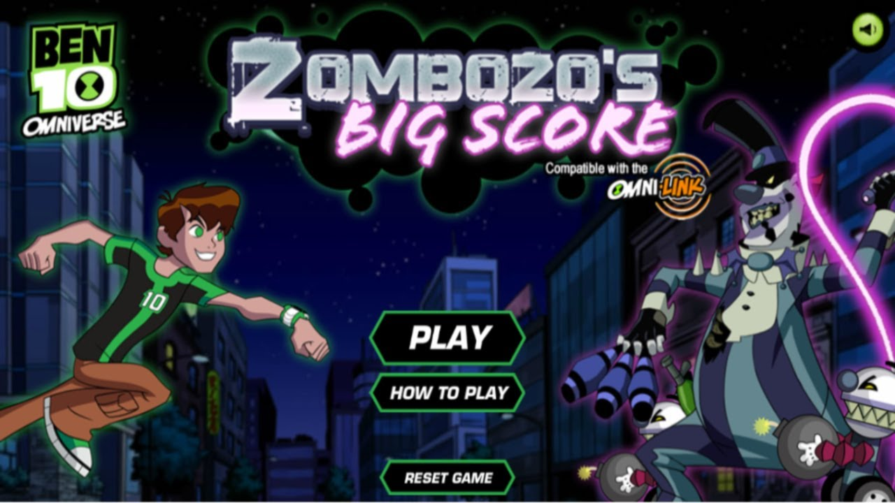 Cartoon network games ben 10 omniverse zombozo s big score
