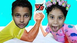 القتال بين الفتيات والفتيان !! مرام ضد مازن !!