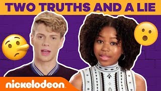 Jace Norman & Riele Downs Play Two Truths and a Lie & Go BTS | #TryThis