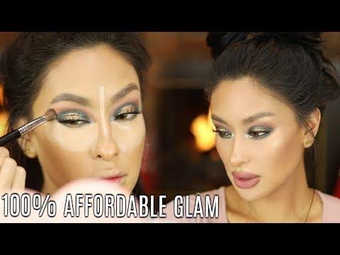 100% Affordable GLAM Holiday Makeup  NYE Look