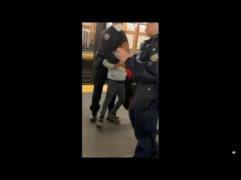 NYPD Officers Arrest A Little Boy For Selling Candy On The Subway