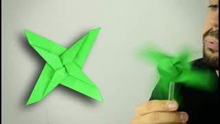 Origami: 4-Bladed Shuriken Propeller - Instructions in English (BR)