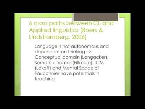 Applications of Cognitive Linguistics