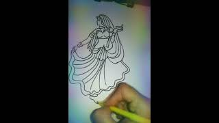 Diwali greeting special- draw a dancing girl step by step