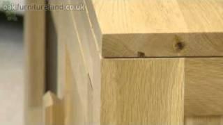 Oakdale Solid Oak Widescreen Tv / Dvd / Vcr Cabinet From Oak Furniture Land