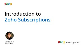 Introduction to Zoho Subscriptions