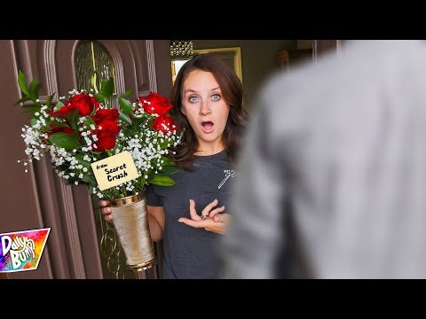 SECRET CRUSH GOT HER FLOWERS!?!! (WHAT HAPPENED?! Prank??)