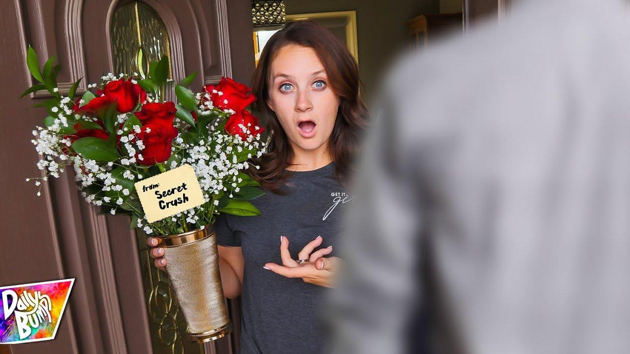 Secret Crush Got Her Flowers What Happened Prank
