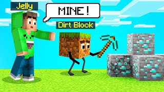 TEACHING A BLOCK To PLAY MINECRAFT! (Funny)
