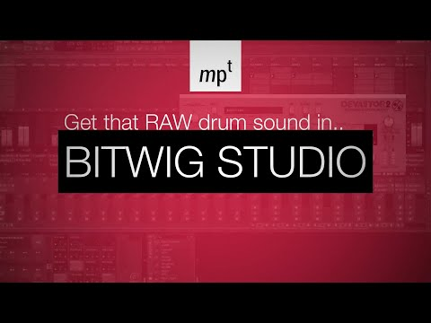 Bitwig and D16 Devastor 2 - Raw House Drums Deconstructed