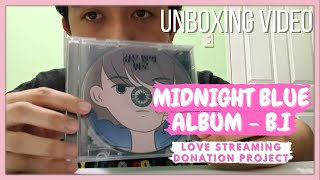Download B.I Midnight Blue (Love Streaming Donation Project) Album Unboxing Video